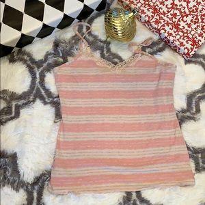Holiday Wear 🎁 Apt 9 Soft Bra Top pink grey